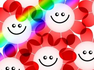 Educar: Dibujo de flores sonriendo